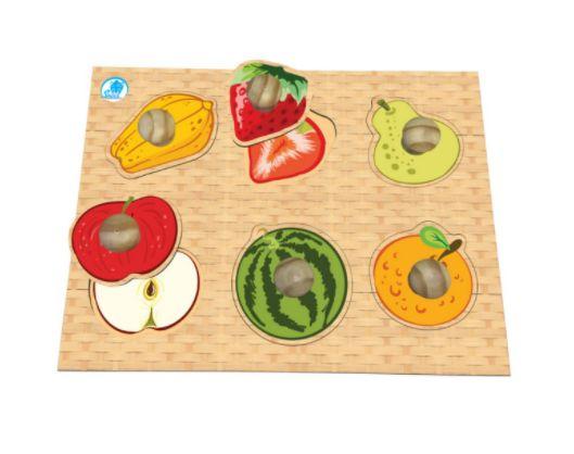 Quebra-cabeça Pinão com Frutas