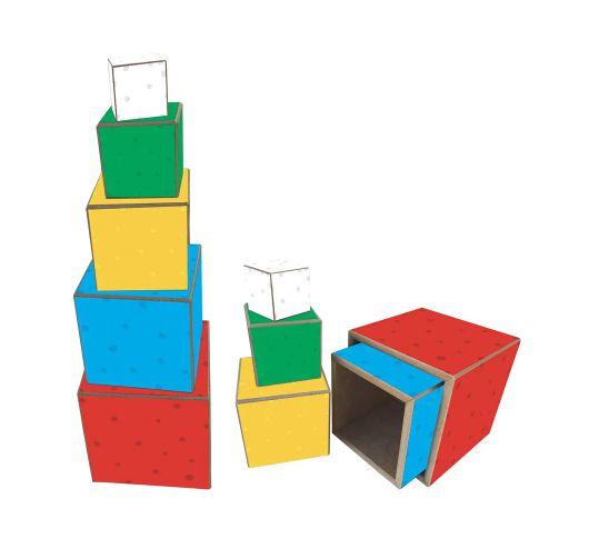 Cubo de Encaixe 5 Pçs