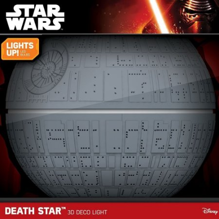 Luminária 3D Light FX Star Wars - Estrela da Morte