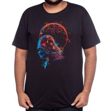 Camiseta Darth Vader Aquarela