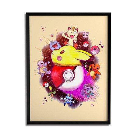 Quadro Decorativo Pokémon