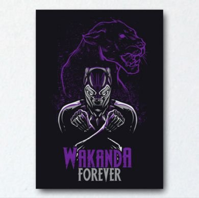 Placa Decorativa Wakanda Forever