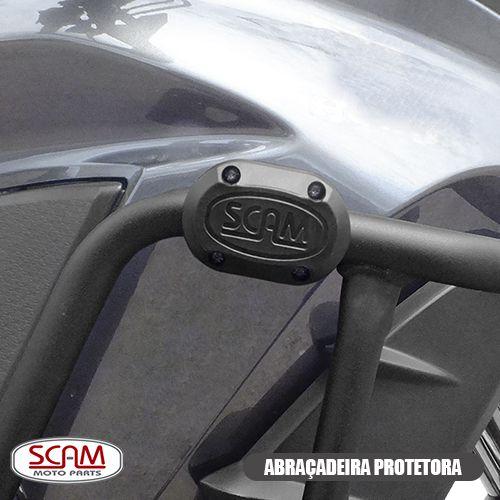 PROTETOR DE MOTOR E CARENAGEM C/ PEDAIS MT09 TRACER 900 GT 2020+