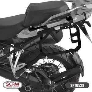 SUPORTE BAULETO LATERAL PRETO BMW R1200 ADVENTURE 2013+ SCAM