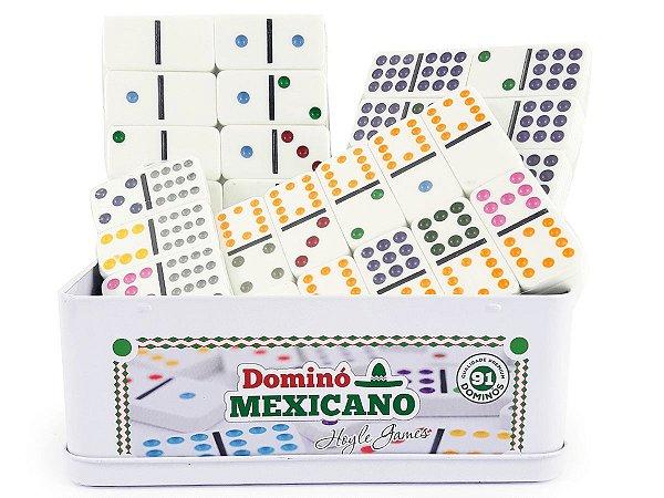 Domino Mexicano 91 Peças Com trilho e Trenzinhos Hoyle Games