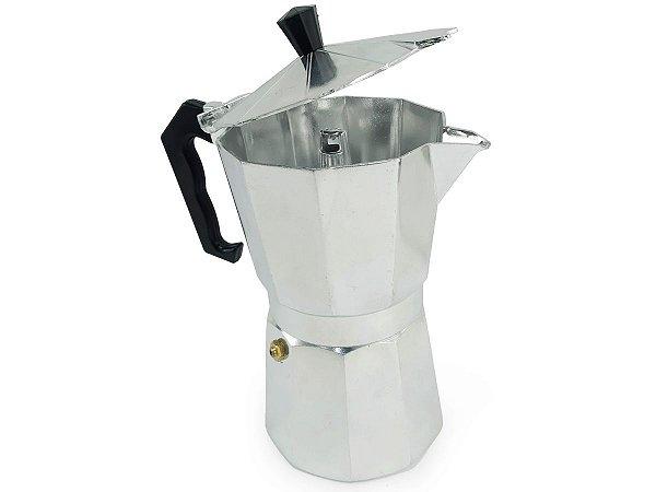 Cafeteira De Alumínio Tipo Italiana De 450 ml Para 9 Xicaras Uso Manual
