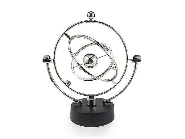 Pendulo De Newton Cinético Giratório Magnético Cosmo Planeta Enfeite Decoração Mesa Escritório Sala