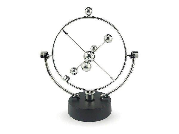 Pendulo De Newton Cinético Giratório Magnético Esferas Mesa Escritório Sala Enfeite Decoração