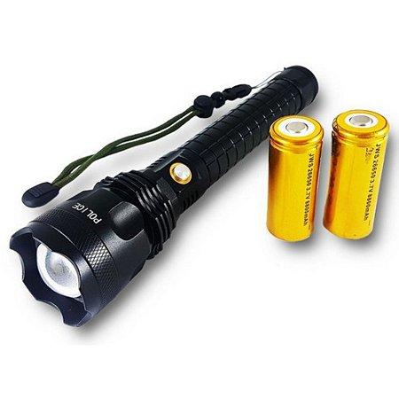 Lanterna Tática Led T9 Super Potente 2 Baterias 26650 Jyx