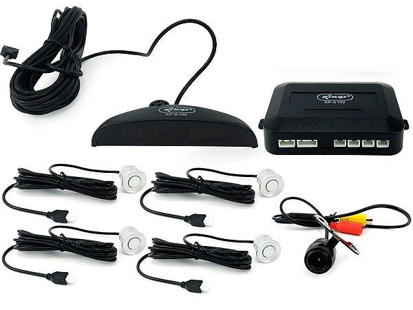 Kit Câmera De Ré Veicular Universal para Baliza e Sensor de Estacionamento Automático