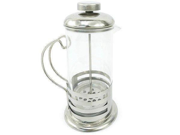 Cafeteira Francesa Com Prensa 350ml De Vidro e Aço Inox Café Chá Livon Listrada