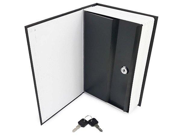 Cofre Metal Camuflado Porta Joias Guarda Valores Em Formato De Livro Dicionário Inglês Com Fechadura + Duas Chaves
