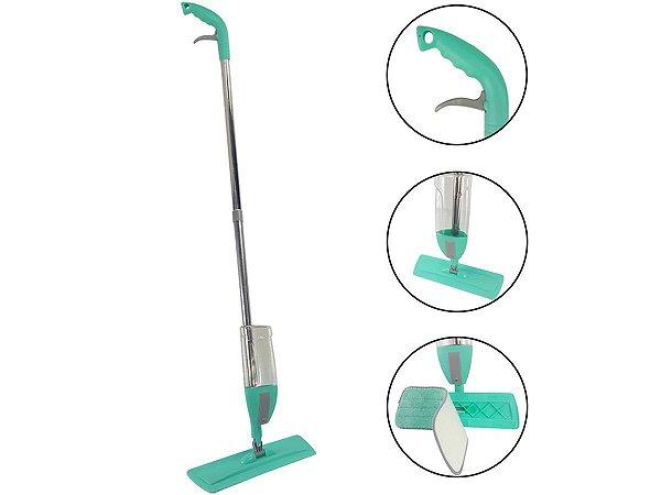Spray Mop Vassoura Limpa Passa Pano Com Reservatório 400ml Para Produtos De Limpeza 3 Em 1 Cabo Aço Inoxidável