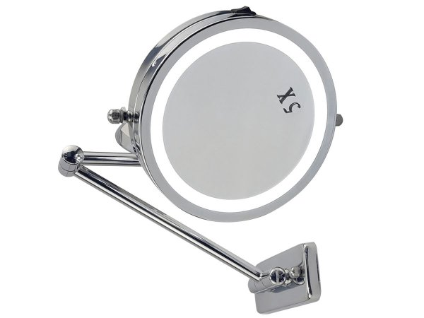 Espelho Articulado Para Parede Dois Lados Aumento De Imagem Em 5 Vezes Profissional Para Consultório