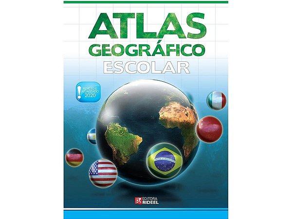 Atlas Geográfico Escolar Edição Atualizada de 2020 27x20 cm Para Estudantes