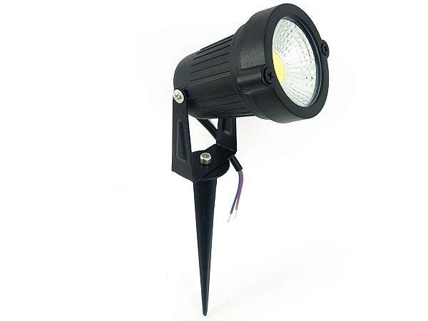 Luminária Spot Luz Led De Alto Brilho 7w Com Espeto Para Jardim
