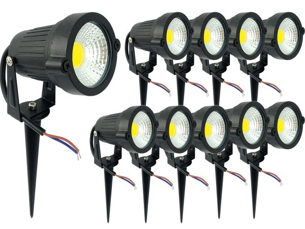 Kit 10 Luminaria Espeto Bivolt Alto Brilho Lançamento 7w