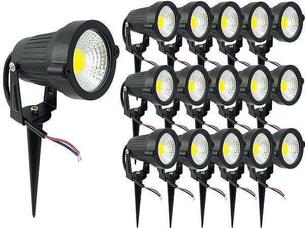 Kit 16 Espeto de Jardim Luminária Com Luz De Alto Brilho Super Forte Led 5w 110v 220v