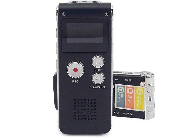 Gravador De Voz Digital Recarregável Grampo Linha Telefônica Fone De Ouvido Microfone Lapela Cabo USB