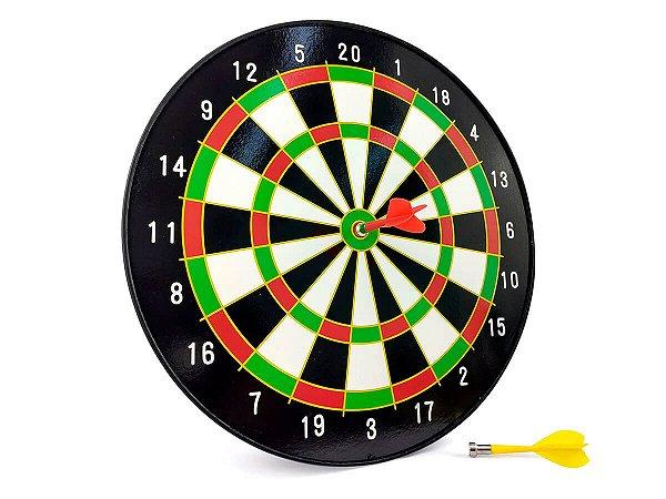Jogo de Dardos Magnético Tabuleiro Alvo De 34CM Com 6 Dardos Coloridos Para Salão de Jogos