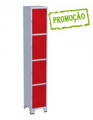 Armário Roupeiro - Guarda volumes para vestiário colorido - 4 Portas