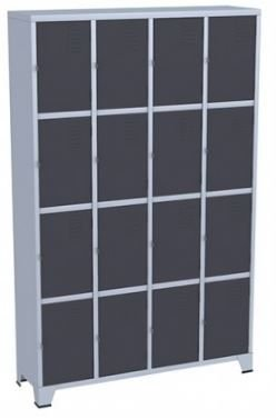Armário Roupeiro - Guarda volumes para vestiário - 16 Portas - Colorido