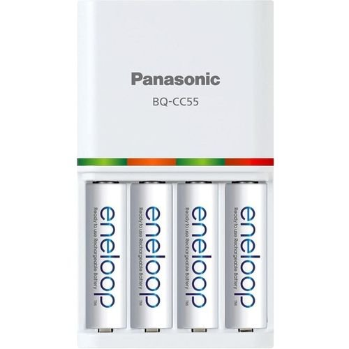 CARREGADOR PANASONIC ENELOOP C/ PILHAS AA/AAA