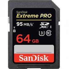 Cartão memória Sandisk 64GB 95 MBs