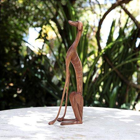 Escultura Cachorro 'Baleia' - Sentado