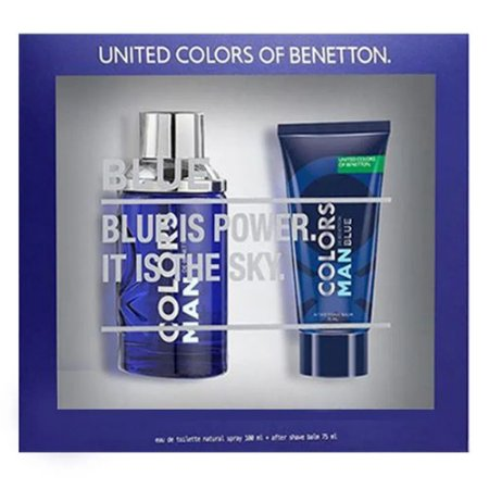 BENETTON KIT COLORS BLUE+AFTER SHAVE EDT MASCULINO