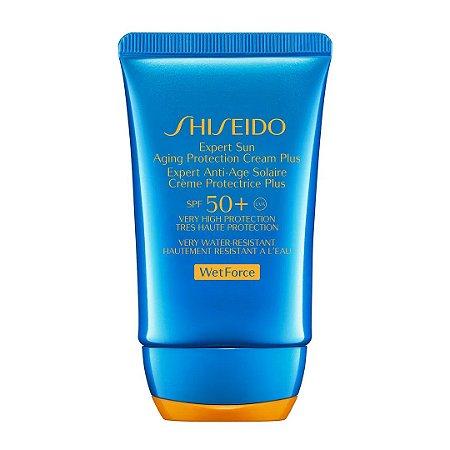 SHISEIDO EXPERT SUN AGING PROTECTION CREAM PLUS WETFORCE SPF50+