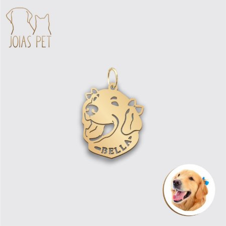 Pingente Personalizado Pet/cachorro Cabeça 16mm