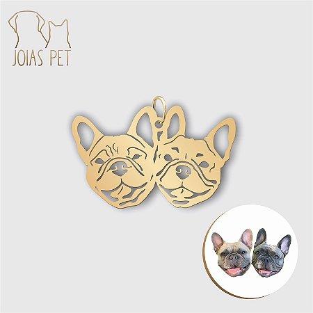 Pingente Personalizado Pet/cachorro Cabeça 2