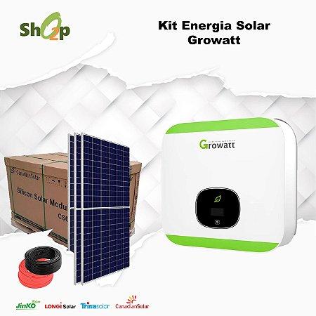 Gerador Solar Growatt - Fixação Telha Cerâmica