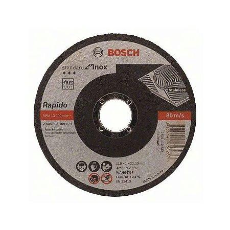 Disco Corte Inox 4.5'' 115x1;0x22;23mm Bosch