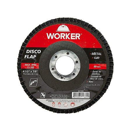 Disco Flap 4.1/2 Reto G040 Worker