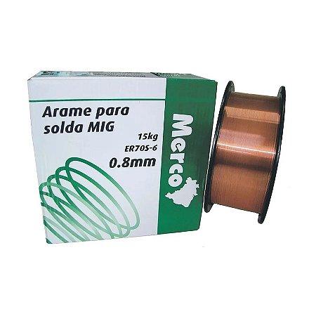 Arame Solda Mig 0.8mm 15kg Merco Nobre