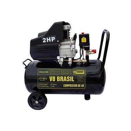 Compressor de Ar 8.5pés/25lt V8 Brasil