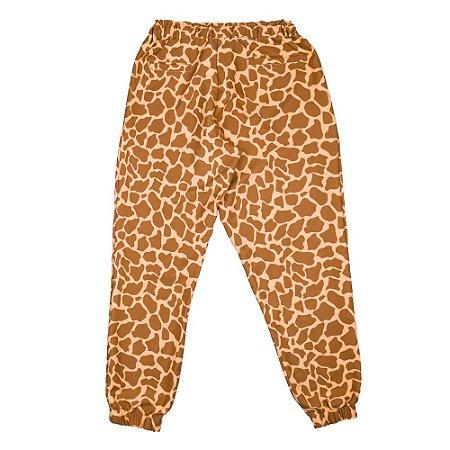 Calça estampa girafa marrom