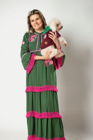 vestido franjas julia