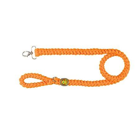 guia de fios de malha laranja