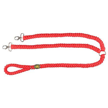 guia de fio de malha dupla vermelha