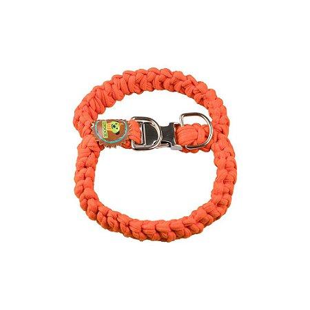 Peitoral fio de malha  laranja