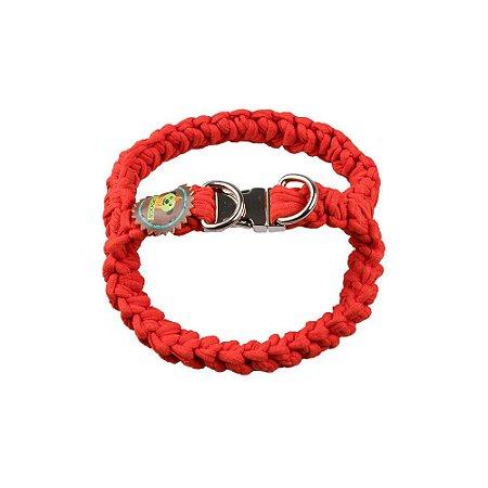 Peitoral fio de malha vermelho