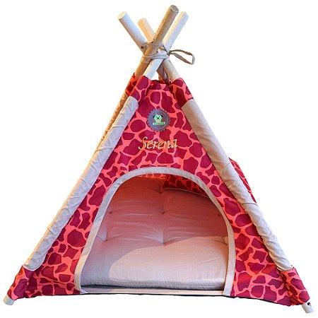 cabana estampa girafa coral