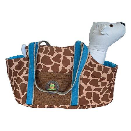 Bolsa de passeio girafa marrom