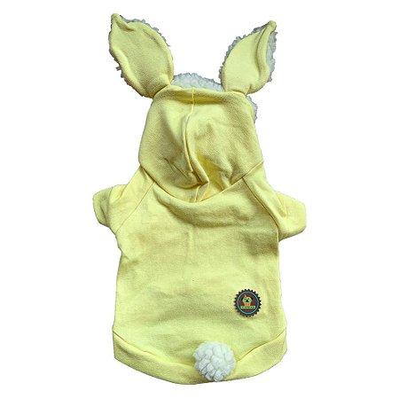 Casaquinho coelhinho amarelo bb