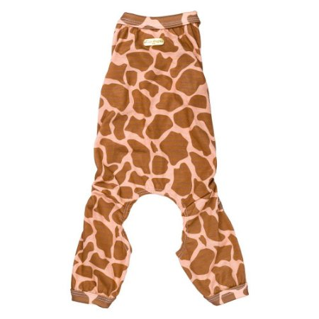 Pijama estampa girafa marrom