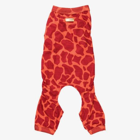 Pijama estampa girafa coral