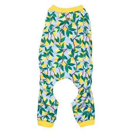 Pijama estampa limão siciliano